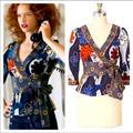 Anthropologie Jackets & Coats | Anthropologie Eleveneses Wrap Jacket | Color: Blue/Orange | Size: 6