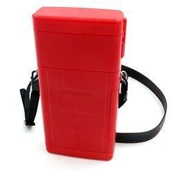 CUESOUL ANTIE Hard Red Dart Case,Holds 6 Steel Tip Darts/Soft Tip Darts & Extra Dart Tips,Shafts & Flights,Durable Use