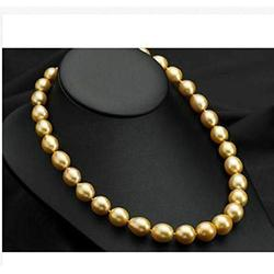 Necklaces Pendants, Natural Single Strands 12-13Mm South Sea Gold Baroque Pearl Necklace 18Inch