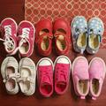 Converse Shoes | 6 Pair Of Size 5 Toddler Shoes | Color: Pink/Red | Size: 5bb