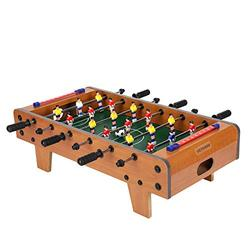 SHEVSHAVAN 20 inches Mini Foosball Table for Kids Table Top Wooden Hockey Game Tabletop Soccer/Foosball Game Small Foosball Table Football Table for Family Night,Travel,Party Game