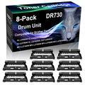 8-Pack (Black) Compatible HL-L2370DWXL DCP-L2550DW MFC-L2710DW Black Drum Unit (High Yield) Replacement for Brother DR730 DR-730 Drum Unit (12,000 Pages)
