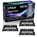 3-Pack (Black) Compatible HL-L2370DWXL DCP-L2550DW MFC-L2710DW Black Drum Unit (High Yield) Replacement for Brother DR730 DR-730 Drum Unit (12,000 Pages)