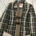 Free People Jackets & Coats | Free People Plaid Buckled Sweater Jacket | Color: Brown/Tan | Size: 6