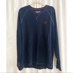 American Eagle Outfitters Shirts | Aeo Thermal Ls | Color: Blue/Red | Size: Xl