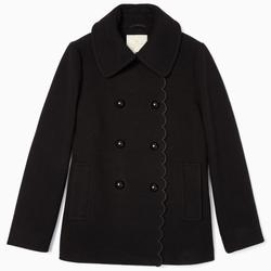 Kate Spade Jackets & Coats | Kate Spade New York Out West Scallop Peacoat | Color: Black | Size: Xl