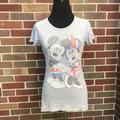 Disney Tops | Mickey Mouse Minnie Mouse T-Shirt Uk Flag Small | Color: Gray | Size: S