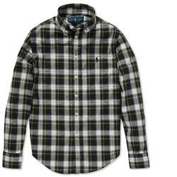 Polo By Ralph Lauren Shirts & Tops   Polo Ralph Lauren Big Boys Cotton Poplin Shirt   Color: Green/Yellow   Size: 8b
