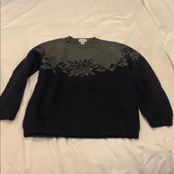 J. Crew Sweaters | Jcrew J. Crew Hand Knit Snowflake Sweater Medium | Color: Blue/Gray | Size: M