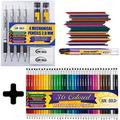 June Gold 4 Premium 2.0 mm Mechanical Pencils with 36 2B Refills, 72 Colored Refills, 36 Assorted Colored 2.0 mm Mechanical Pencils