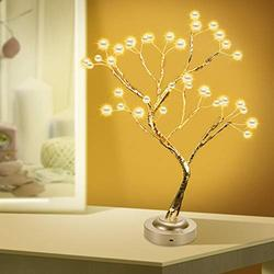 """KIKILIVE Bonsai Tree Light, 18"""" DIY Artificial Tabletop Pearl Tree Lights, USB/Battery Operated Warm Fairy Lights Tree Lamp with 8 Functions for Christmas Party Home Decoration"""