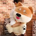 JMKHY 1PC Kawaii Fat Shiba Inu Dog Plush Toy Stuffed Soft Cute Animal Cartoon Pillow Lovely Gift for Kids Baby Children 50cm_Brown