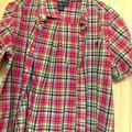 Polo By Ralph Lauren Shirts & Tops   Boys Plaid Pole Shirt Sleeve Shirt   Color: Blue/Pink   Size: Xlb