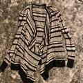 American Eagle Outfitters Sweaters | American Eagle Knit Black & Grey Striped Cardigan | Color: Black/Gray | Size: S