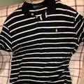 Polo By Ralph Lauren Shirts | Polo Shirt Sleeve Striped Shirt | Color: Black/White | Size: Xxl