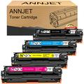 ANNJET Image Remanufactured Toner Cartridge Replacement for Canon 131 131H Toner to use with ImageClass MF8280Cw LBP7110Cw MF628Cw MF624Cw MF8230Cn Laser Printer (Black, Cyan, Magenta, Yellow, 4 Pack)