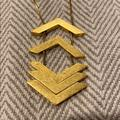 Madewell Jewelry   Madewell Gold Floating Arrows Necklace   Color: Gold   Size: Os