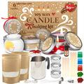 Candle Making Kit for Adults - 89 pcs Candle Making Supplies - Crafts For Adults Women - Soy Candle Making Kit Including Candle Wicks Natural Soy Wax for Candle Making Soy Candle Wax For Candle Making