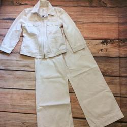 Ralph Lauren Jeans | Lauren Jeans Co Denim Jacket & Wide Leg Jeans | Color: Pink/White | Size: 8