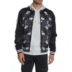 Michael Kors Jackets & Coats | New Michael Kors Black Floral Bomber Jacket | Color: Black/White | Size: L