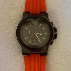 Michael Kors Accessories | Michael Kors Mk8296 Mens Dylan Chronograph Watch | Color: Black/Orange | Size: Os