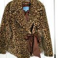 Nine West Jackets & Coats | Faux Fur Jacket | Color: Brown/Tan | Size: L