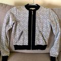 Michael Kors Jackets & Coats | Michael Kors Black And White Floral Bomber Jacket | Color: Black/White | Size: Xs
