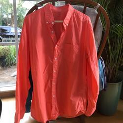 J. Crew Shirts   J Crew Light Weight Shirt Large, Casual Shirt   Color: Orange   Size: L