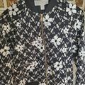 Michael Kors Jackets & Coats | Michael Kors Ms91ev8b2h Varsity Flower Jacket | Color: Black/White | Size: S