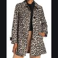 Kate Spade Jackets & Coats | Kate Spade New York Leopard Print Trench Coat | Color: Black/Tan | Size: S