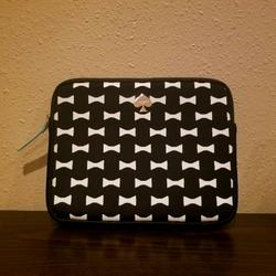 Kate Spade Accessories | Kate Spade Bow Tie Padded Tablet Sleeve Case | Color: Black/White | Size: See Description