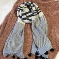 J. Crew Accessories | J Crew Lightweight Summer Scarf | Color: Blue/White | Size: Os