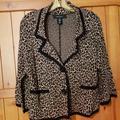 Nine West Jackets & Coats   Nine West Leopard Print Jacket   Color: Black/Brown   Size: M