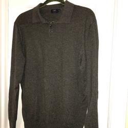 J. Crew Shirts   J Crew Ls Dark Grey Lightweight Sweater   Color: Gray   Size: M