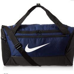 Nike Accessories   Nike Brasilia Blueblack Small Duffel Gym Bag9   Color: Black/Blue   Size: 10.5 High 20 Wide Inches