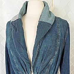 Anthropologie Jackets & Coats | Anthropologie Distressed Denim Jacket Anorak S | Color: Blue | Size: S