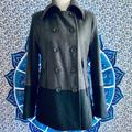 Nine West Jackets & Coats | Nine West Grey And Black Pea Coat | Color: Black/Gray | Size: 8