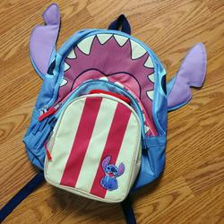 Disney Accessories | Disney Stitch Backpack With Lunchbox | Color: Blue/Red | Size: Backpack