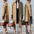 Burberry Jackets & Coats   Burberry Scarf Detail Check Gabardine Car Coat   Color: Black/Tan   Size: 8