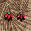 J. Crew Jewelry | Lulu Frost For J.Crew Earrings | Color: Gold/Red | Size: Os