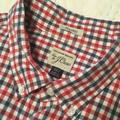 J. Crew Shirts   J Crew Classic 100% Cotton Check Button Down Shirt   Color: Blue/Red   Size: Xlt