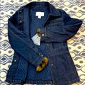 Nine West Jackets & Coats | Nwt Nine West Jean Jacket Quilted Lined W Faux Fur | Color: Red | Size: Sp