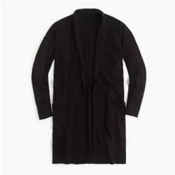 J. Crew Sweaters   J Crew Lightweight Long Cardigan Sweater Black Xxs   Color: Black   Size: Xxs