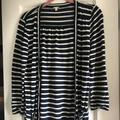 J. Crew Sweaters | Jcrew Lightweight Striped Cardigan Size Small | Color: Cream | Size: S
