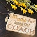 Coach Bags | Coach | Rare Poppy Sequin Coach Metallic Wristlet | Color: Cream/Gold | Size: Os