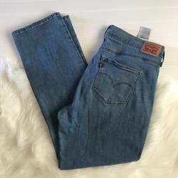 Levi's Jeans   Levis Slimming Straight Jeans Stretch Denim Jeans   Color: Blue   Size: 33