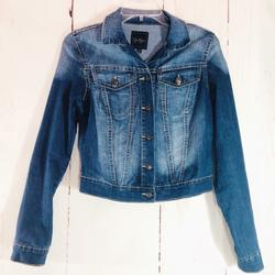 Jessica Simpson Jackets & Coats | Jessica Simpson | Cropped Fitted Denim Jacket S | Color: Blue | Size: S