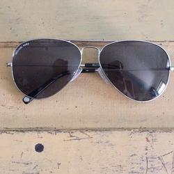 Michael Kors Accessories | Michael Kors Polarized Aviator Sunglasses Unisex | Color: Black/Silver | Size: Os