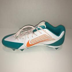 Nike Shoes   Miami Dolphins Nike Men'S Alpha Pro Flywire Cleats   Color: Green/Orange   Size: Various