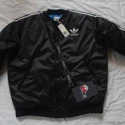 Adidas Jackets & Coats   Adidas Women'S Originals Long Bomber Jacket   Color: Black   Size: L